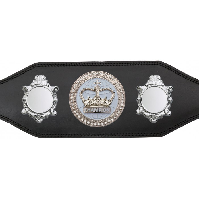 TITLE BELT - BUD003/S/WHTGEM - AVAILABLE IN 4 COLOURS